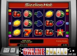sizzling hot slot machine